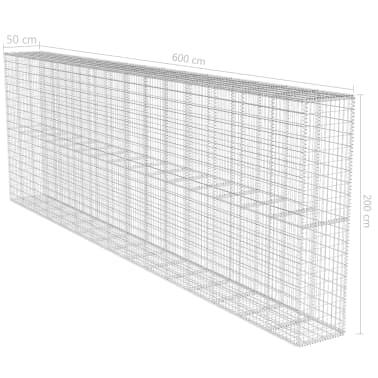 vidaXL Gabiono siena su dang., 600x50x200cm, galvanizuotas plienas[6/6]