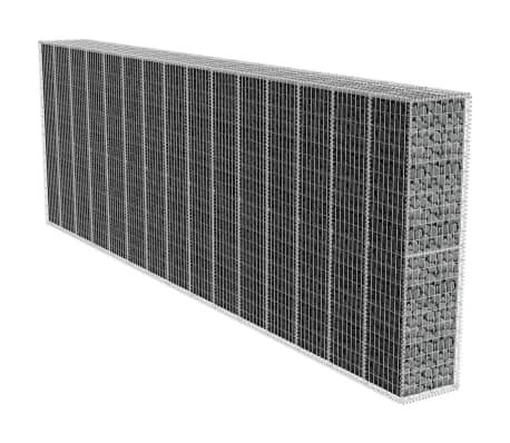 acheter vidaxl mur de gabion avec couvercle 600 x 50 x 200 cm pas cher. Black Bedroom Furniture Sets. Home Design Ideas
