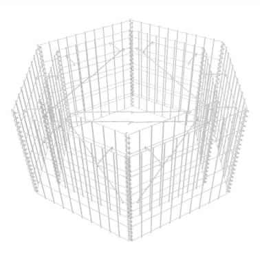 vidaXL Šešiakampis gabiono vazonas, 100x90x50 cm[2/5]