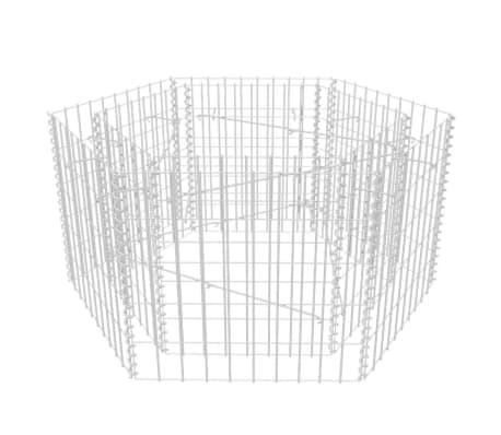 vidaXL Šešiakampis gabiono vazonas, 100x90x50 cm[3/5]