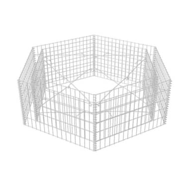vidaXL Šešiakampis gabiono vazonas, 160x140x50 cm[3/5]