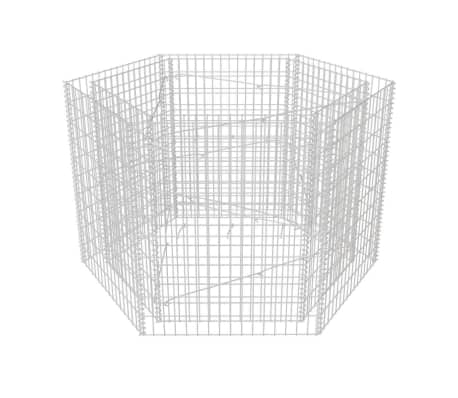 vidaXL Hexagonal Gabion Planter 160x140x100 cm[2/5]