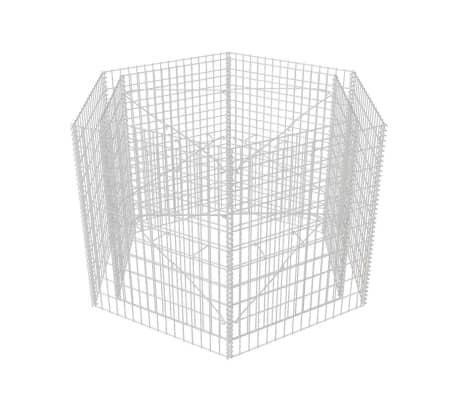 vidaXL Gabion plantekasse sekskantet 160x140x100 cm[3/5]