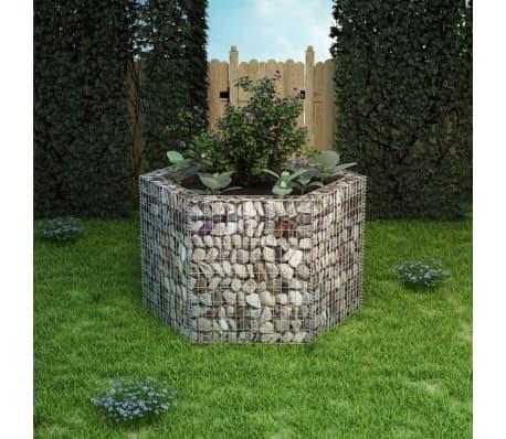 vidaXL Hexagonal Gabion Planter 160x140x100 cm[1/5]