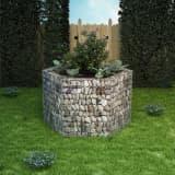 vidaXL Gabion plantenbak verhoogd zeshoekig 160x140x100 cm