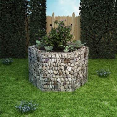 vidaXL Gabion plantekasse sekskantet 160x140x100 cm[1/5]