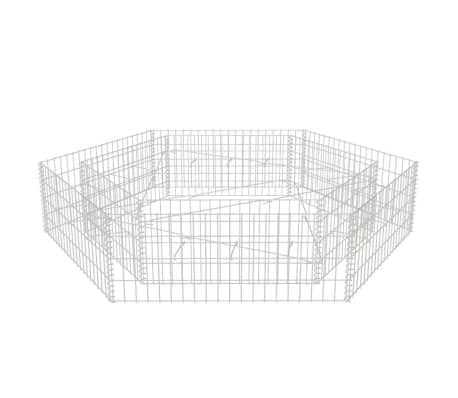 vidaXL Hexagonal Gabion Raised Bed 200x173x40 cm