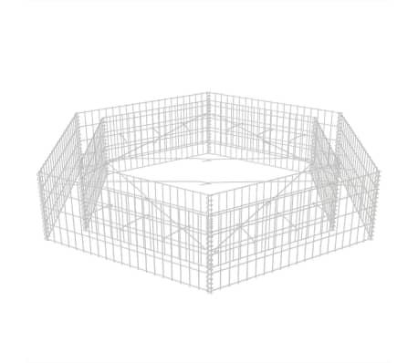 vidaXL Šešiakampis gabiono vazonas, 200x173x40 cm[3/5]