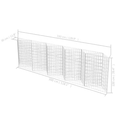 "vidaXL Gabion Basket/Planter/Raised Vegetable Bed 118.1""x11.8""x39.4""[6/6]"