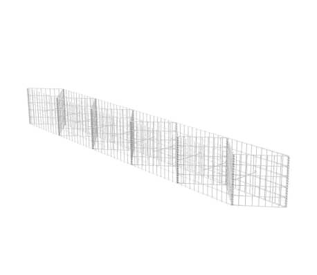 vidaXL Coș gabion, 300 x 30 x 50 cm, oțel galvanizat
