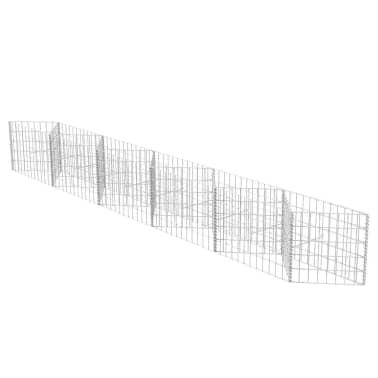 vidaXL Gabionenkorb Pflanzkasten Gemüse-Hochbeet Stahl 300×30×50 cm[2/6]