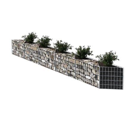 vidaXL Gabionenkorb Pflanzkasten Gemüse-Hochbeet Stahl 300×30×50 cm[3/6]