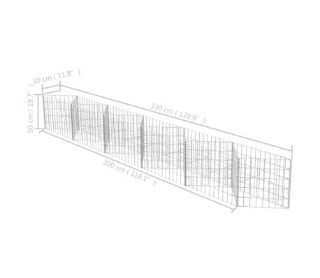 vidaXL Gabionenkorb Pflanzkasten Gemüse-Hochbeet Stahl 300×30×50 cm[6/6]