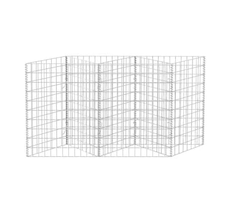 "vidaXL Gabion Basket/Planter/Raised Vegetable Bed 59""x11.8""x39.4""[4/6]"
