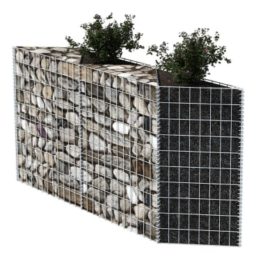 "vidaXL Gabion Basket/Planter/Raised Vegetable Bed 59""x11.8""x39.4""[3/6]"