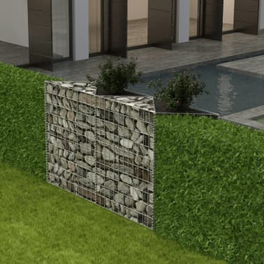 "vidaXL Gabion Basket/Planter/Raised Vegetable Bed 59""x11.8""x39.4""[1/6]"