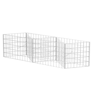 "vidaXL Gabion Basket/Planter/Raised Vegetable Bed 59""x11.8""x19.7""[2/6]"