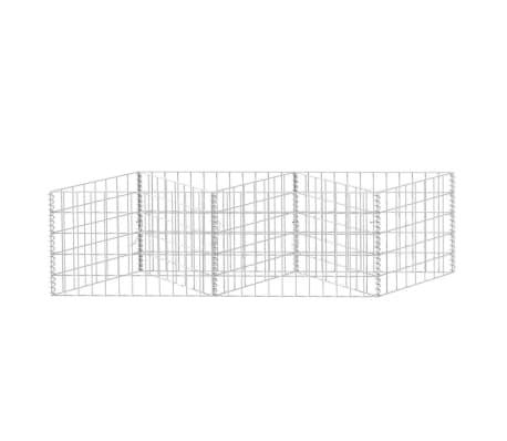 "vidaXL Gabion Basket/Planter/Raised Vegetable Bed 59""x11.8""x19.7""[4/6]"