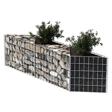 "vidaXL Gabion Basket/Planter/Raised Vegetable Bed 59""x11.8""x19.7""[3/6]"