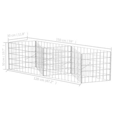 "vidaXL Gabion Basket/Planter/Raised Vegetable Bed 59""x11.8""x19.7""[6/6]"