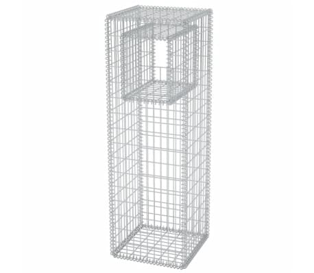 vidaXL Gabion Basket Post/Planter Steel 50x50x160 cm