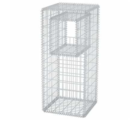 vidaXL Gabion Basket Post/Planter Steel 50x50x120 cm