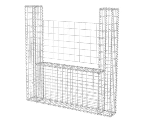 vidaXL Gabionkurv u-form galvanisert stål 160x20x150 cm