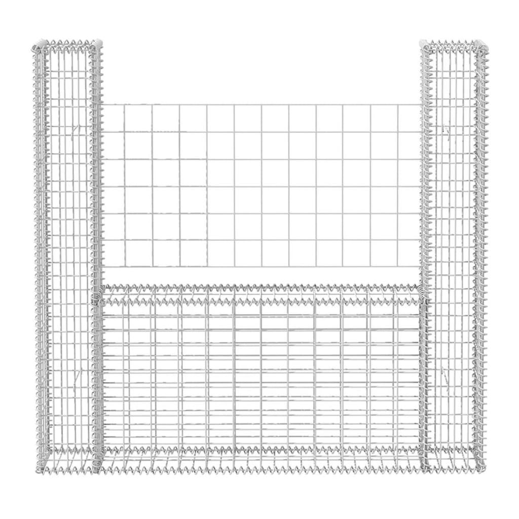 gabionenkorb gabionen steinzaun gabionenwand gartenzaun metall u form stahl ebay. Black Bedroom Furniture Sets. Home Design Ideas