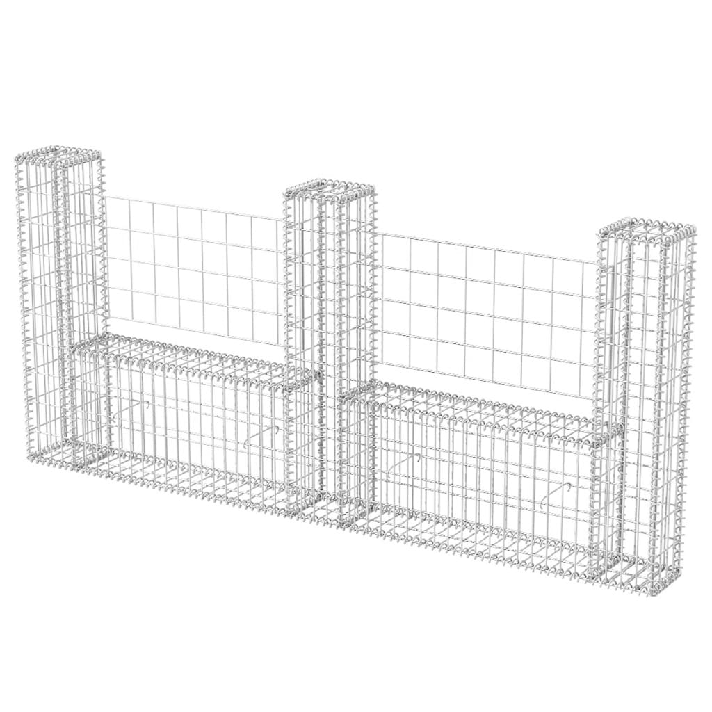 gabion basket garden screen fence panel barrier u