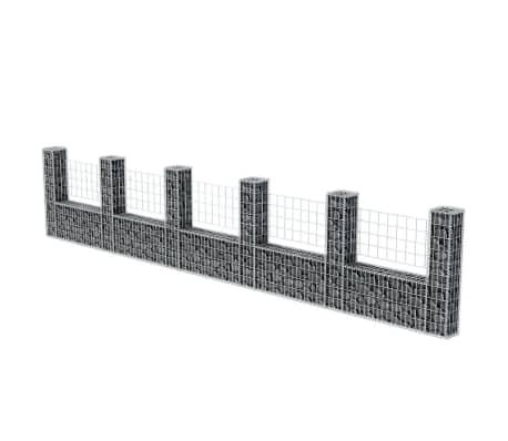 "vidaXL Gabion Basket U-Shape Steel 224.4""x7.9""x39.4""[3/5]"