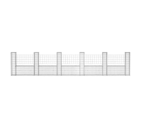 "vidaXL Gabion Basket U-Shape Steel 224.4""x7.9""x39.4""[4/5]"