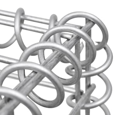 "vidaXL Gabion Basket U-Shape Steel 224.4""x7.9""x39.4""[5/5]"