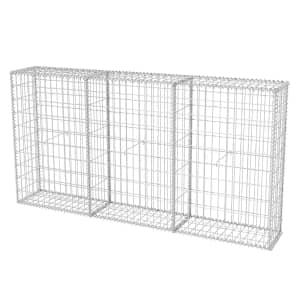 vidaXL Gabion Basket Galvanised Steel 200x30x100 cm