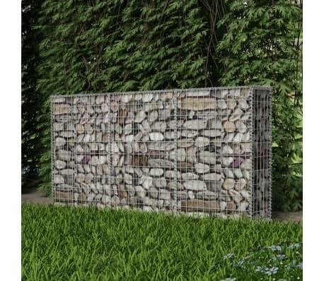 """vidaXL Gabion Basket Galvanised Steel 78.7""""x11.8""""x39.4""""[3/6]"""