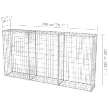 """vidaXL Gabion Basket Galvanised Steel 78.7""""x11.8""""x39.4""""[6/6]"""