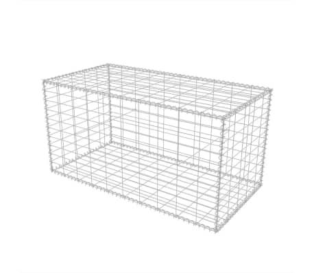 vidaXL Gabionkurv galvanisert stål 100x50x50 cm