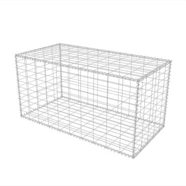 """vidaXL Gabion Basket Galvanised Steel 39.4""""x19.7""""x19.7""""[2/7]"""