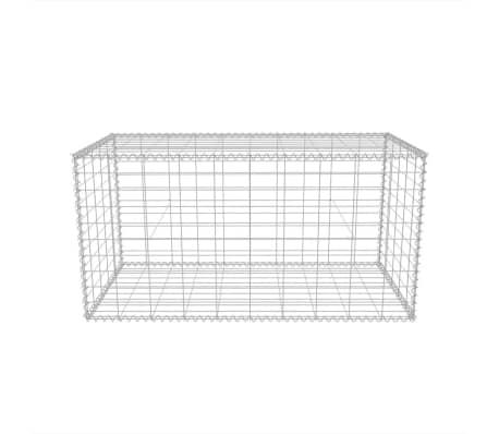 """vidaXL Gabion Basket Galvanised Steel 39.4""""x19.7""""x19.7""""[4/7]"""