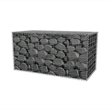 """vidaXL Gabion Basket Galvanised Steel 39.4""""x19.7""""x19.7""""[3/7]"""