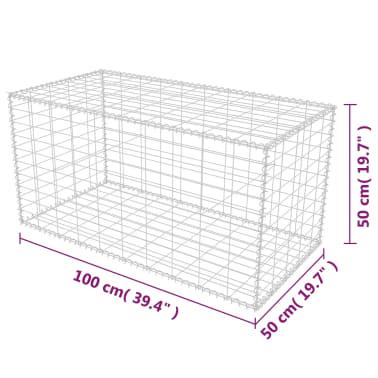 """vidaXL Gabion Basket Galvanised Steel 39.4""""x19.7""""x19.7""""[7/7]"""