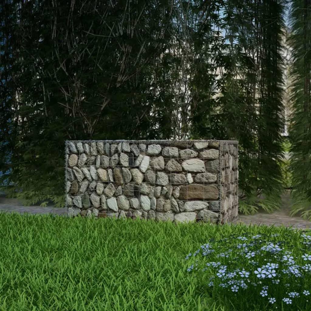 Détails sur vidaXL Panier de Gabion Acier 100x50x50 cm Clôture de Jardin  Bordure Barrière