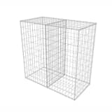 vidaXL Gabionkurv stål 100x50x50 cm