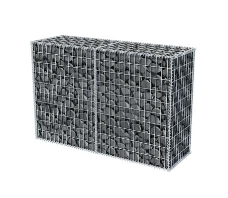 vidaXL Gabionkorg stål 150x50x100 cm[3/6]