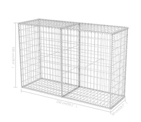 vidaXL Gabionkorg stål 150x50x100 cm[6/6]