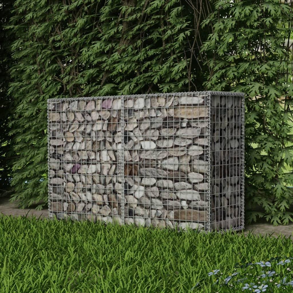 vidaXL Coș gabion, 150 x 50 x 100 cm, oțel galvanizat imagine vidaxl.ro