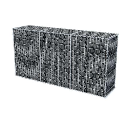 vidaXL Gabionska košara iz pocinkanega jekla 200x50x100 cm[3/6]