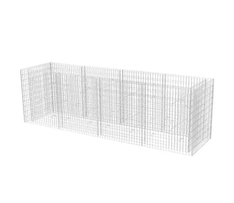 vidaXL Podwyższona donica, ze stali 360 x 90 x 100 cm