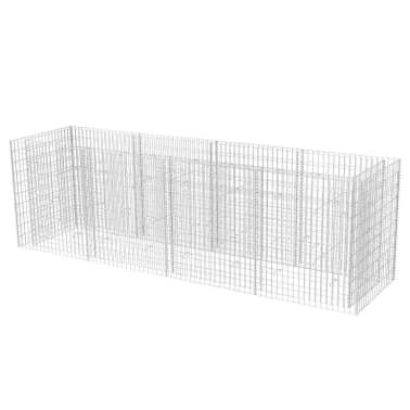 vidaXL Gabiono vazonas, plienas, 360x90x100 cm[2/6]