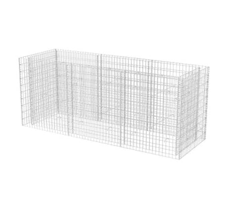 vidaXL Gabion høybed stål 270x90x100 cm