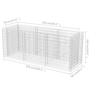 vidaXL Gabion stålpotte 270x90x100 cm[6/6]